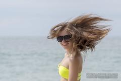 Young girl at the beach. Phuket, Thailand