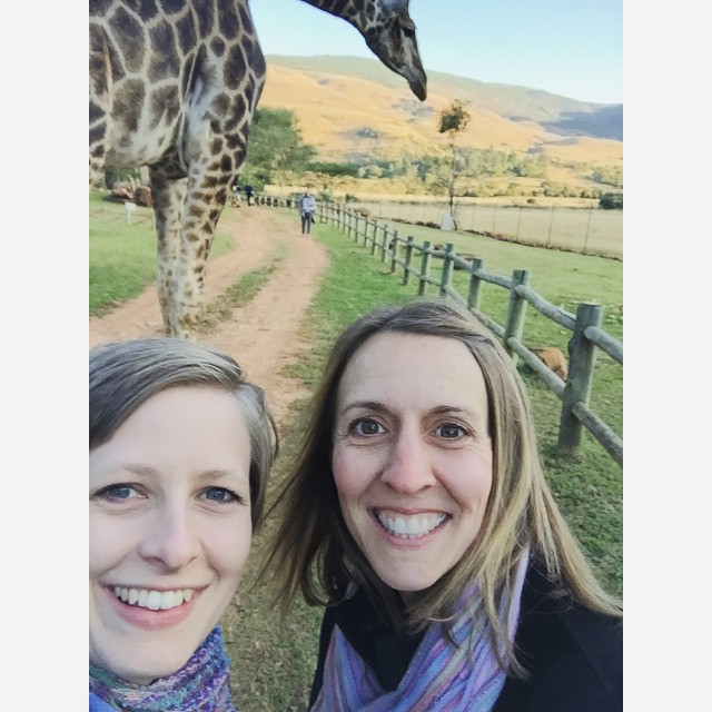 Just a normal weekend hiking with giraffes.