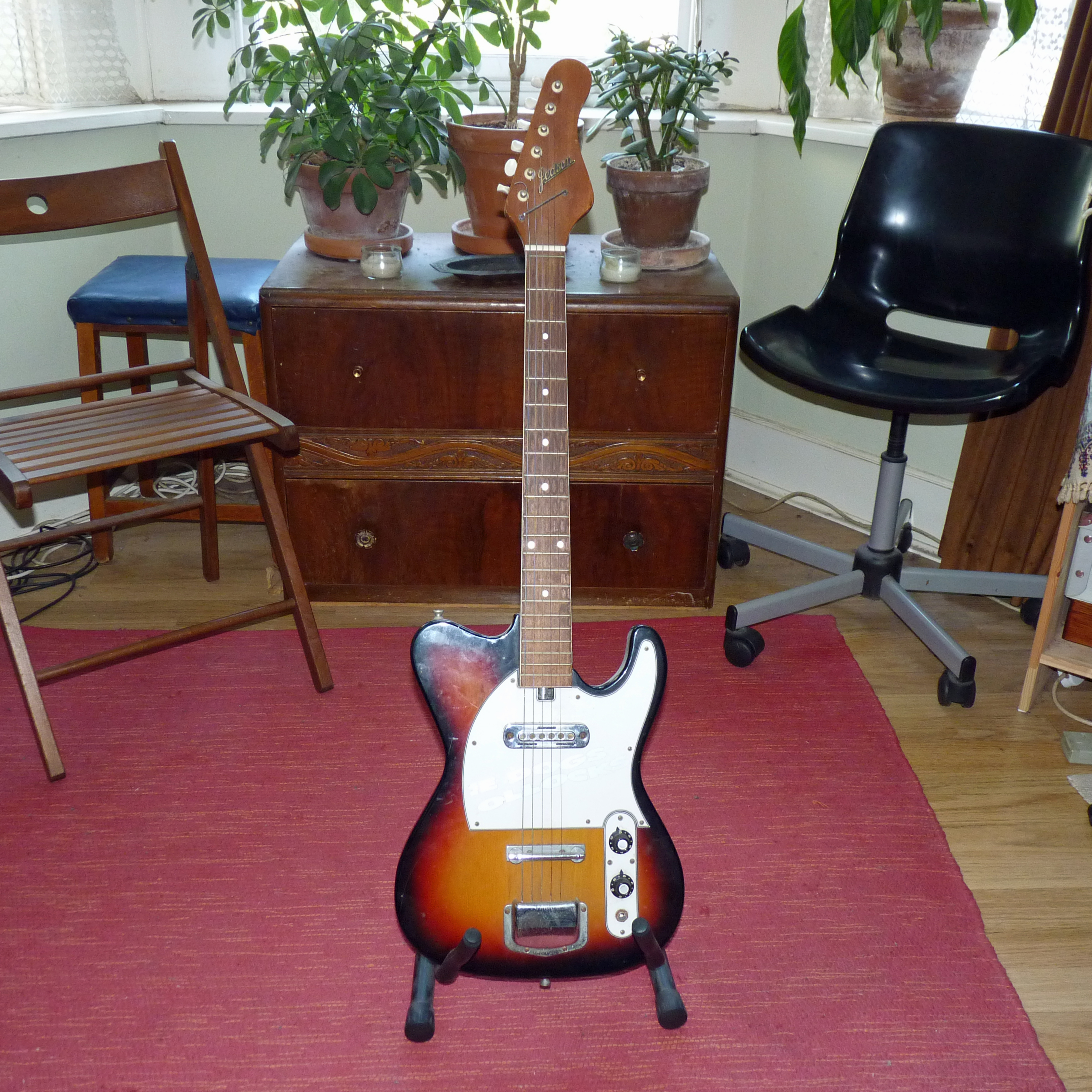 jedson tele style guitar from the 70s guitar discussions on thefretboard. Black Bedroom Furniture Sets. Home Design Ideas