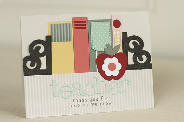 Teacher Book Card with Bibliophile Dies