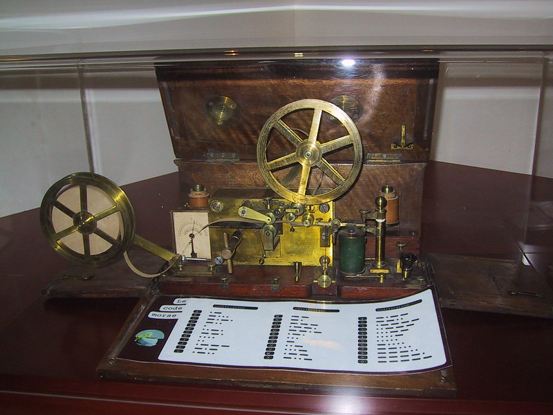 Morse Telegraph in historical collection of France Telecom, France