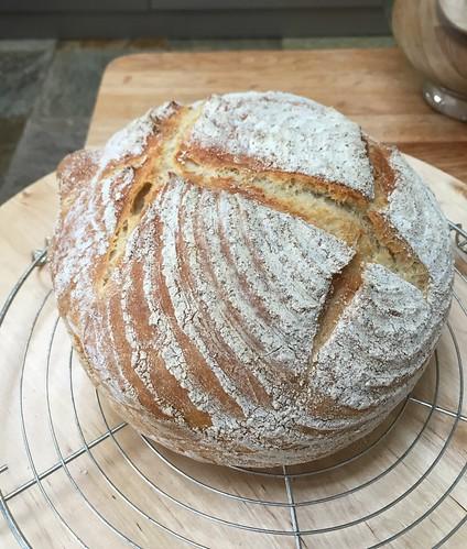 White bread, wonky stripes