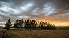 Sunset stormy sky - Photo of La Fage-Montivernoux