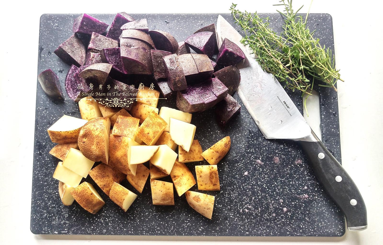 孤身廚房-香草烤雙色馬鈴薯──好吃又簡單的烤箱料理4