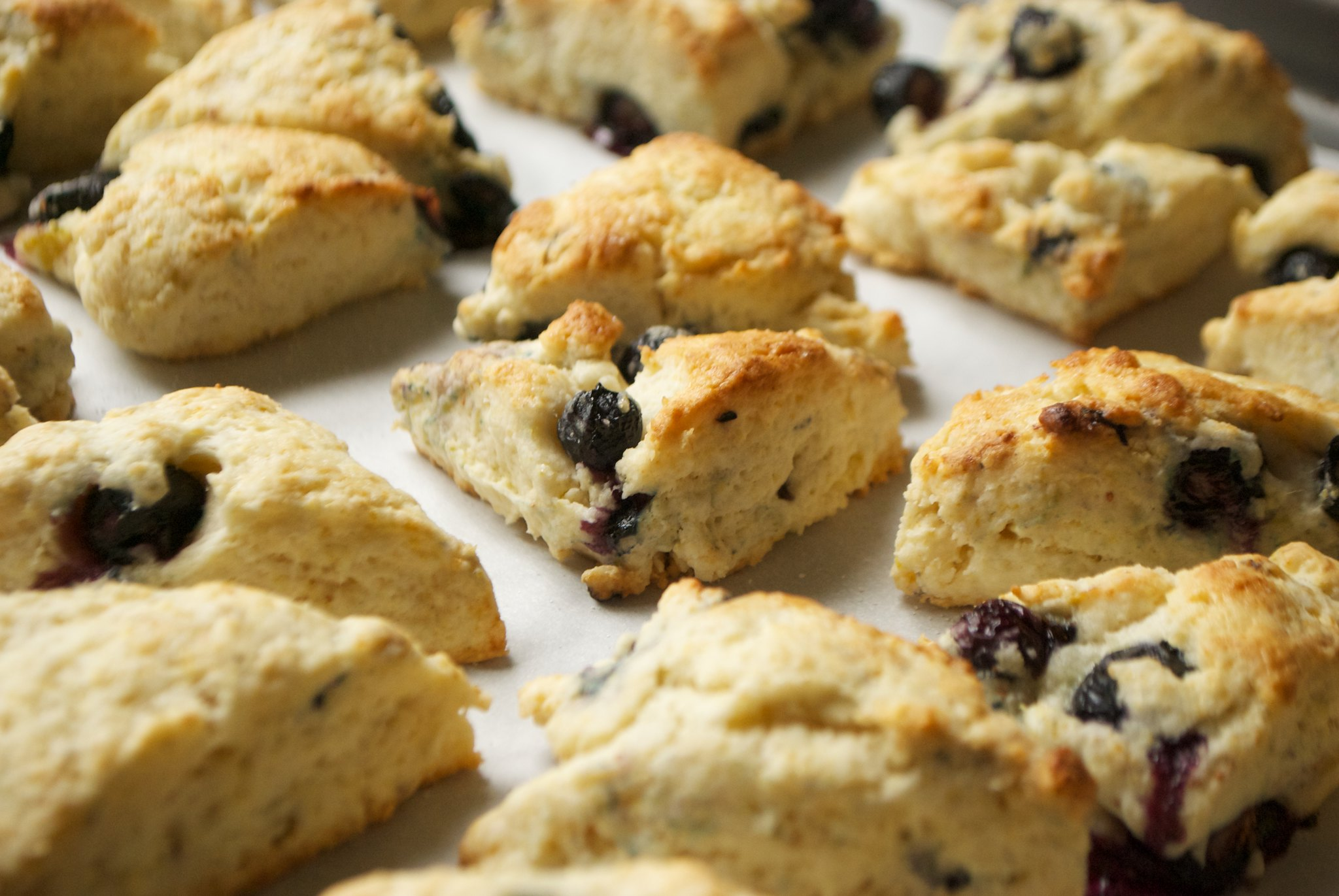 Mini Blueberry Cream Scones