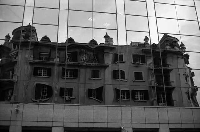 Reflexes and Distortions of Lisbon by Yashinon lens...
