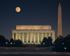Super Moon and Monuments