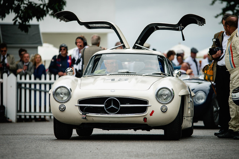 Hans Kleissl and Jochen Mass - 1955 Mercedes-Benz 300SL Gullwing at the 2016 Goodwood Revival (Photo 1)