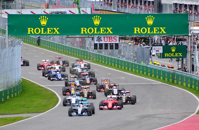 2015 Canadian Grand Prix F1 Start