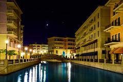 Qanat Quartier at Night