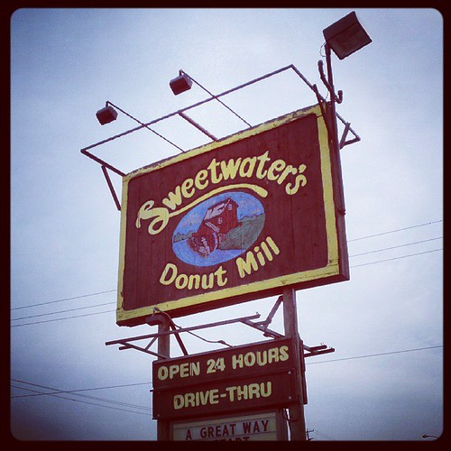 Sweetwater's Donut Mill. A great way to start the day.