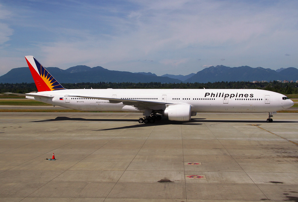 PR116 from Manila MNL about to turn into the gate. Delivered 04/2013.