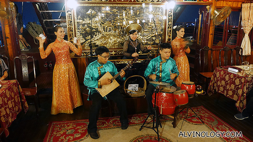 Traditional vietnamese rock band