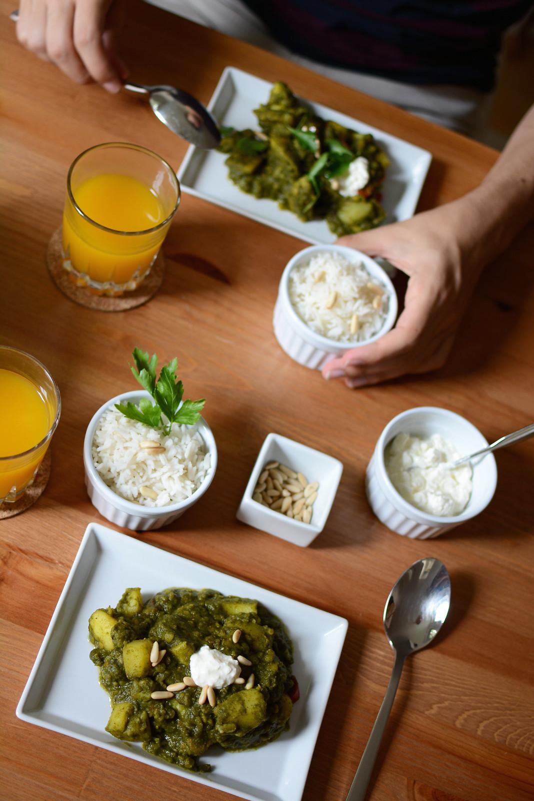 Spinat-Erdäpfel-Curry