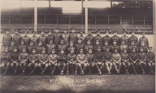 No.2 Platoon A Coy, 39th Battalion, Ballarat, Australia - WW1