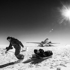 On the ice in Antarctica