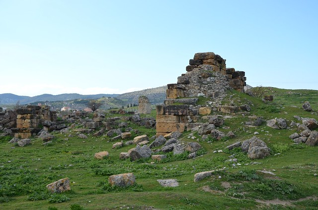 The ruins of the Bouleuterion (Council Hall), Tripolis on the Meander, Lydia, Turkey