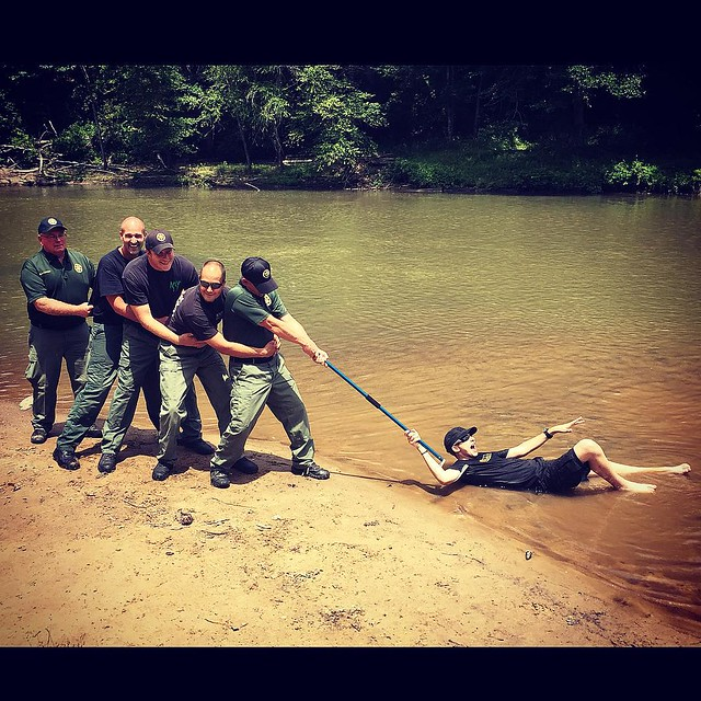 Get him, guys!  😉  After filming this @scalyadventures episode, the Douglas County, GA K-9 Unit found a creative use for our giant snake hook!    www.ScalyAdventures.com #scalyadventures #scalyadventurestv #piercecurren #familyfriendly #scalyfriends
