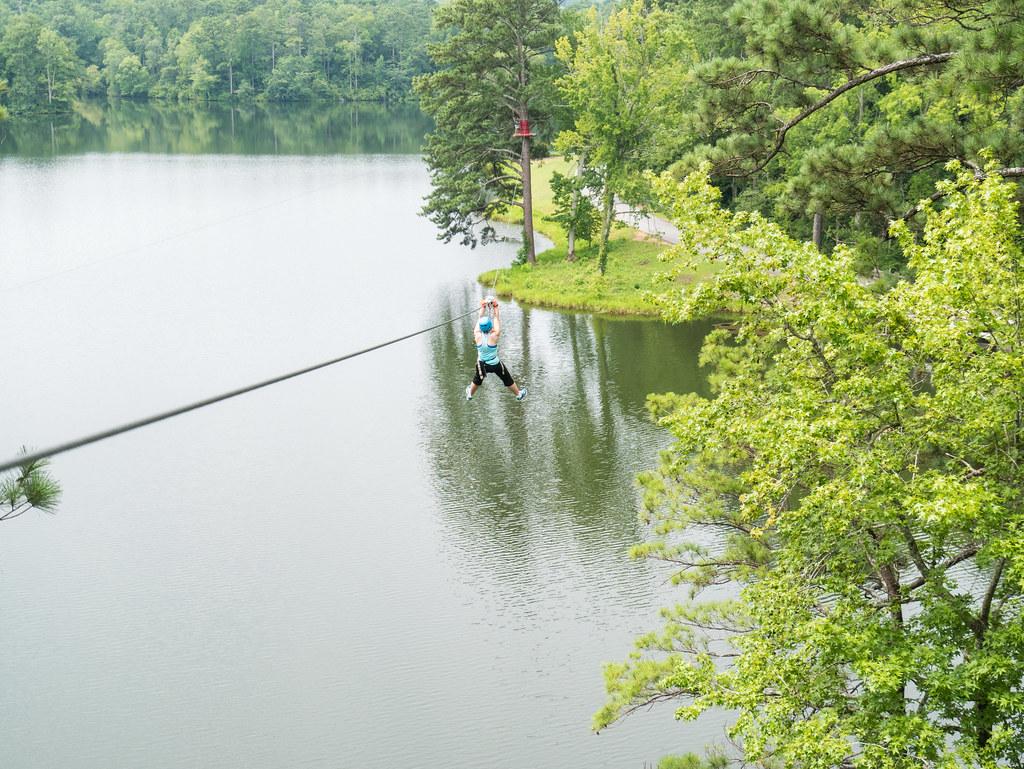Lake zipline