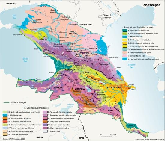 Climate zones of the Caucasus ecoregion   GRID-Arendal