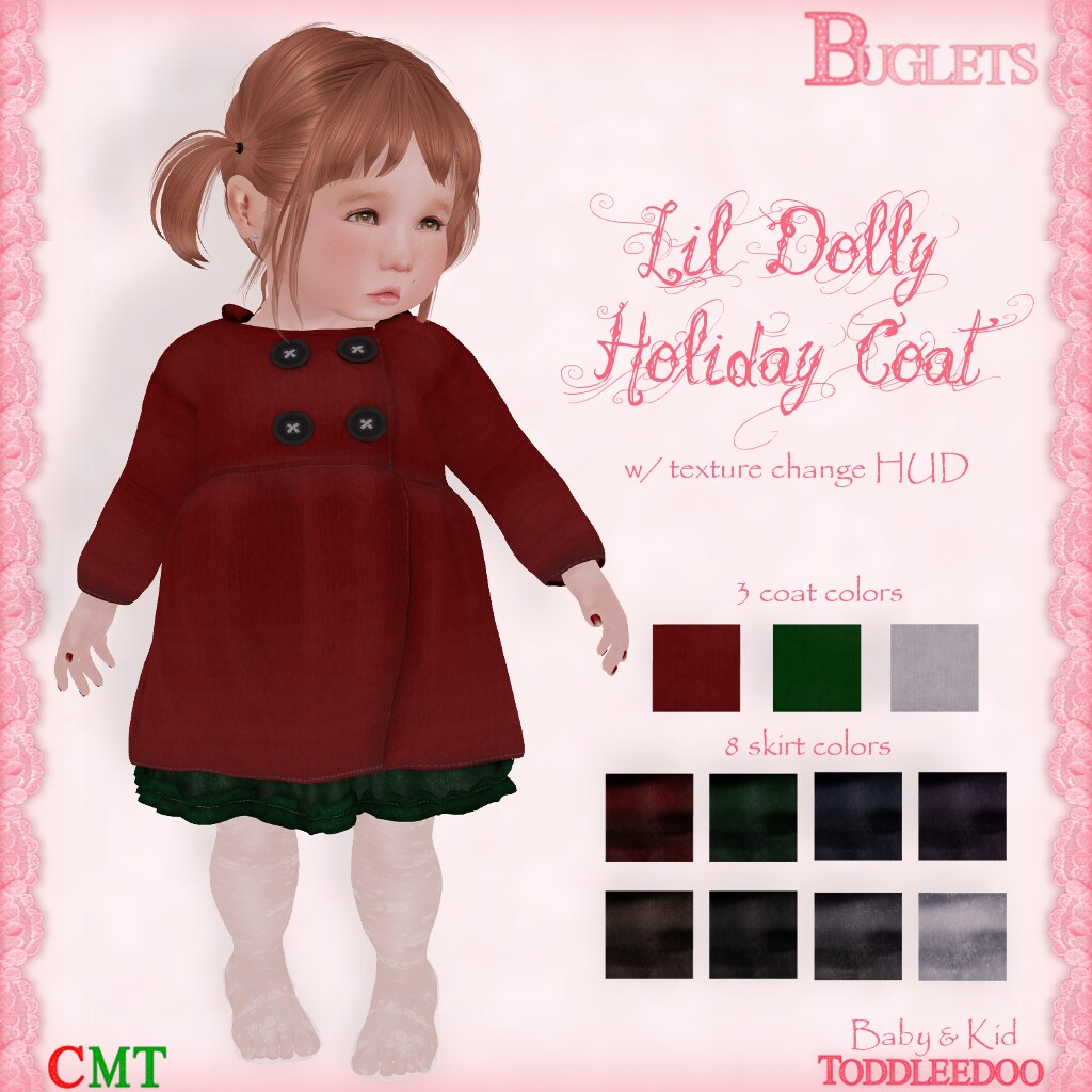 TD Lil Dolly Holiday Coat - SecondLifeHub.com