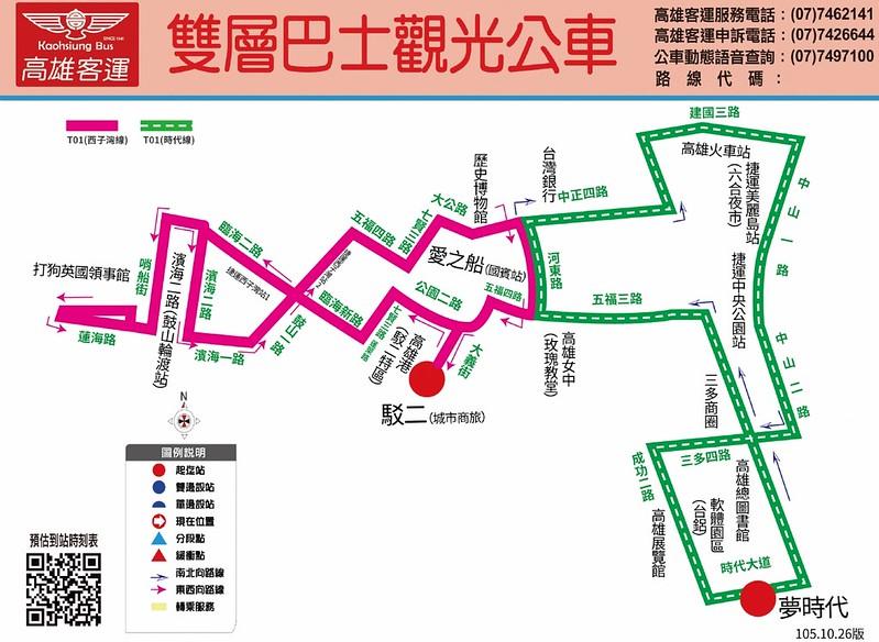 雙層巴士觀光公車路線圖