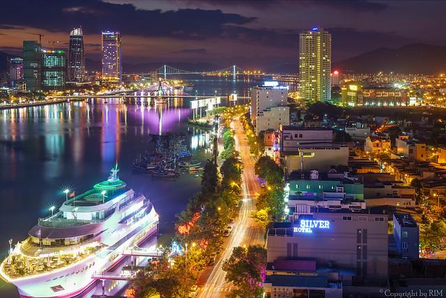 My hometown at night....