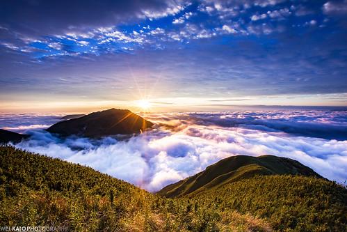 大屯山 日出 雲海 sunrise clouds