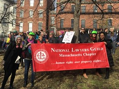NLG Mass Banner at the Women's March