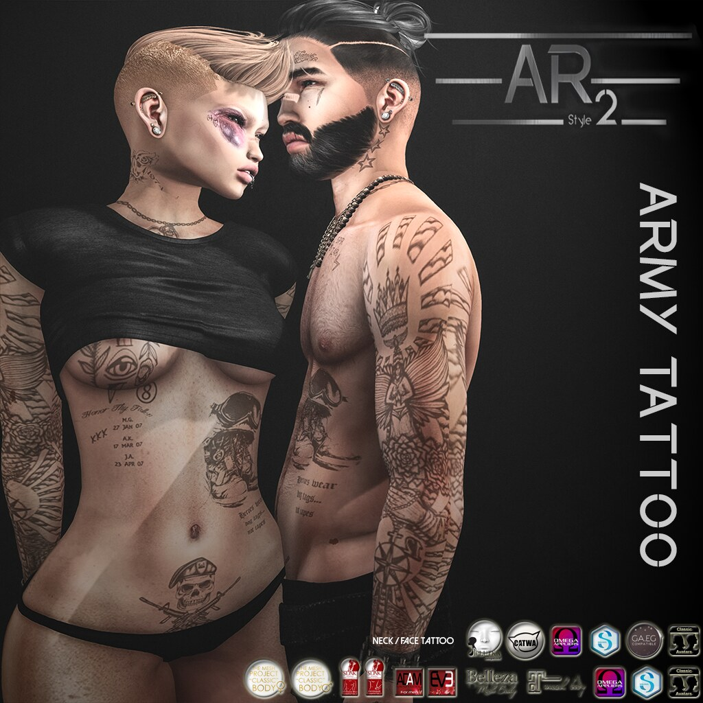 [AR2 Style] Army_ Tattoo - SecondLifeHub.com