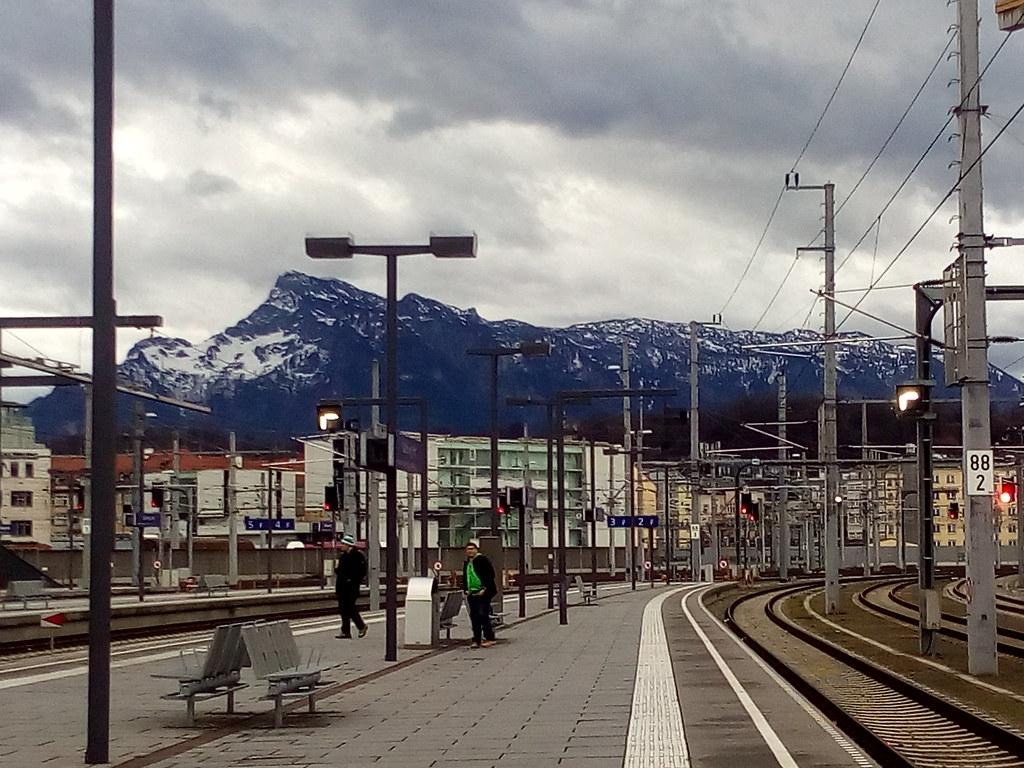 Montanhas com neve em Salzburg, 26/12/16