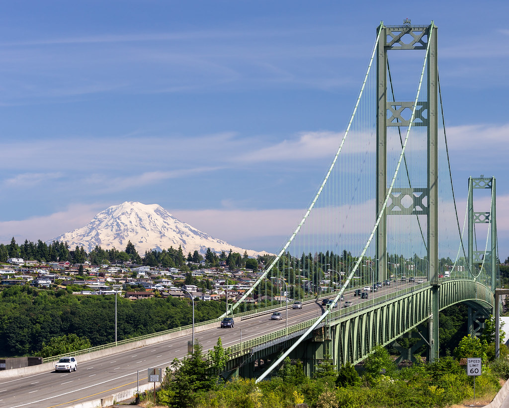 tacoma narrows bridge Only four months after its completion, the tacoma narrows bridge in washington state suffers a spectacular collapse when it opened in 1940, the tacoma narrows bridge was the third-longest suspension bridge in the world.