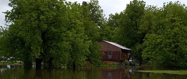 House By Flood Water