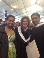 Rajesh Sammy UTSC JJ grad with Ellin Bessner and his girlfriend