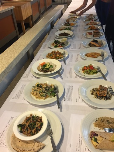 A sample of plated dishes that were judged at the final round of judging for the 2015 Healthy Lunchtime Challenge