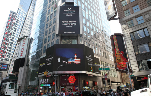 PR Newswire am Times Square