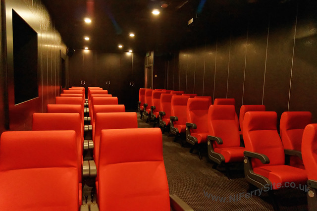 Stena Mersey - Alternative view of the cinema from front to back (looking aft).