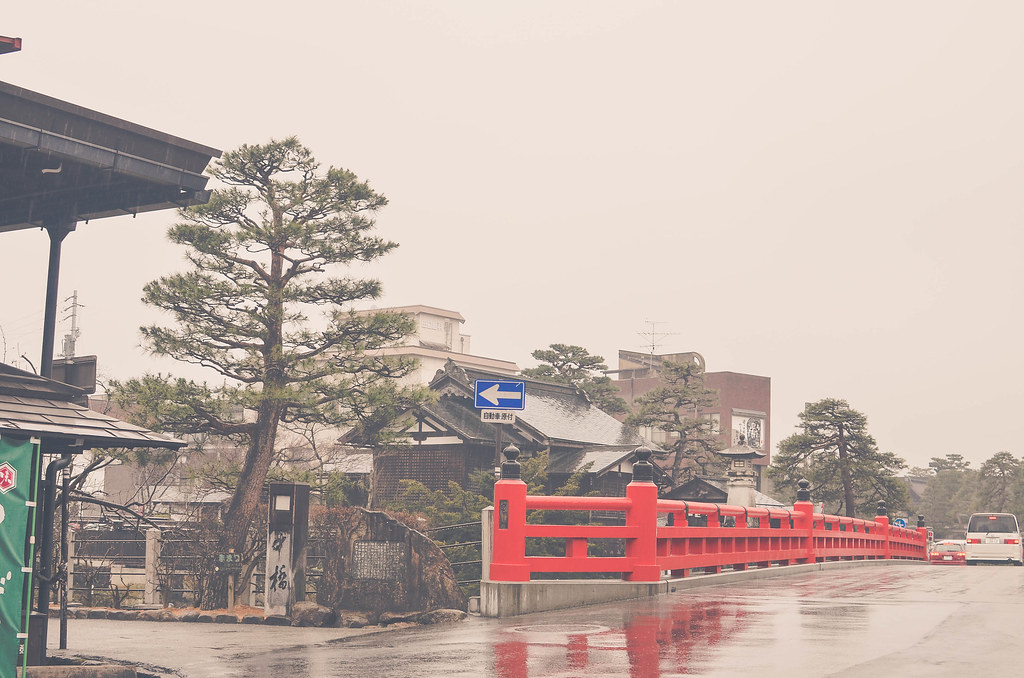 The Iconic Red Bridge of Takayama