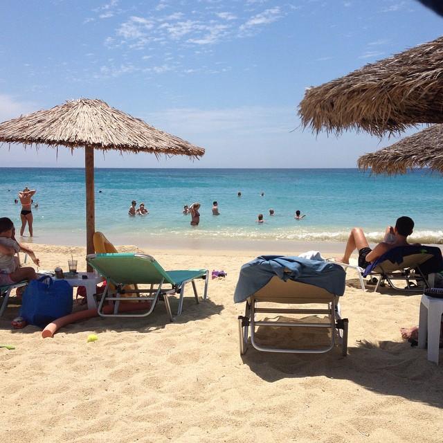 Swimming in Naxos