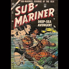 Sub-Mariner, always eager to tackle the enemy-of-the-moment. #comics