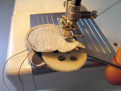 sewing, art, yellow,