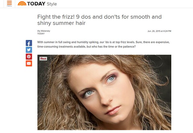 Joel Schlessinger MD shares how to deal with frizzy hair in the summer