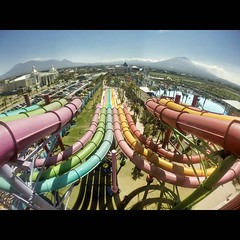 Rainbow slide, Hawai Waterpark Malang. Look nice from up here...