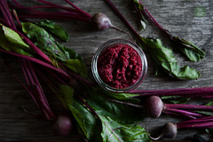 Young beetroot puree with horseradish