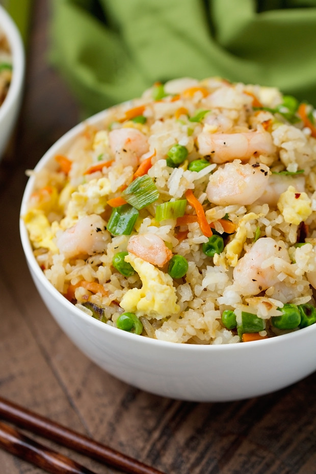 Shrimp fried rice recipe little spice jar easy shrimp fried rice 15 minutes and so flavorful that youll never order ccuart Choice Image