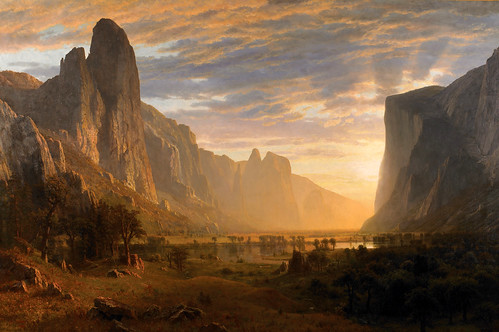 Albert Bierstadt – Birmingham Museum of Art 1991.879. Looking Down Yosemite Valley, California (1865)