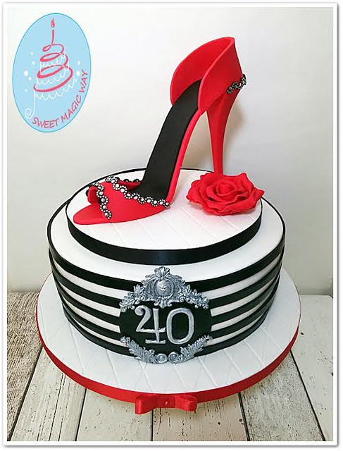 High Heel Cake by Magda Marszałek of Sweet Magc Way