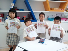 SISB Chiang Mai Grade 1 students finishing work