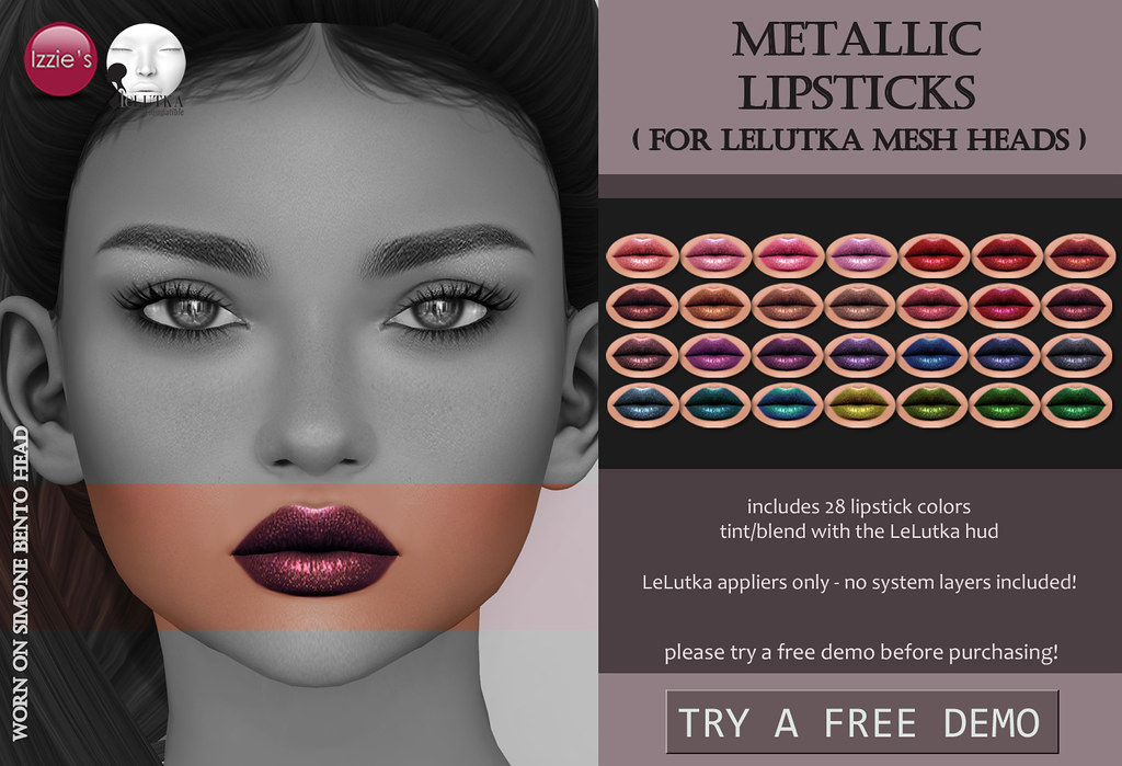 Metallic Lipsticks (LeLutka) - SecondLifeHub.com