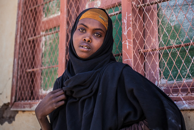 Young woman portrait, Somaliland